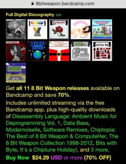 Super 8 Bit Weapon & ComputeHer Sale Via Bandcamp! | 8 Bit Weapon